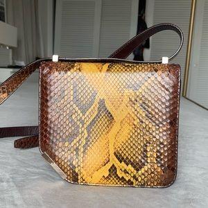 Bally amber python shoulder bag